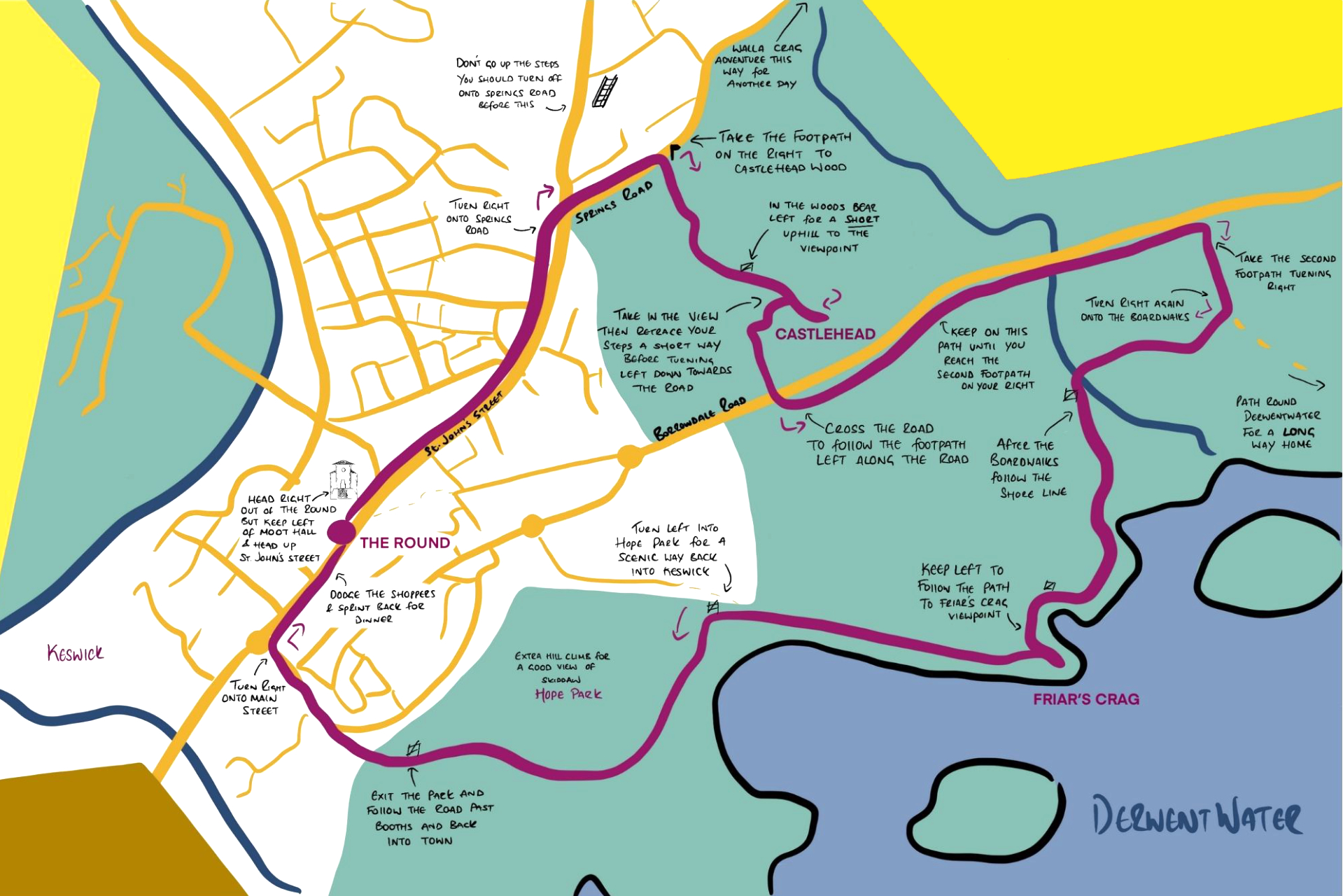 The Friar's Round Route Map