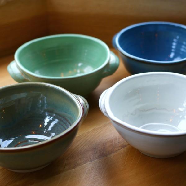 Handmade rustic bowls